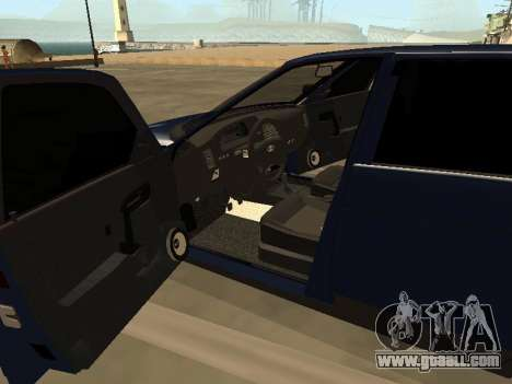 VAZ 2110 for GTA San Andreas inner view