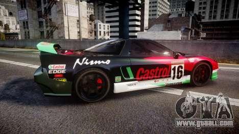 Honda NSX 1998 [EPM] castrol for GTA 4 left view