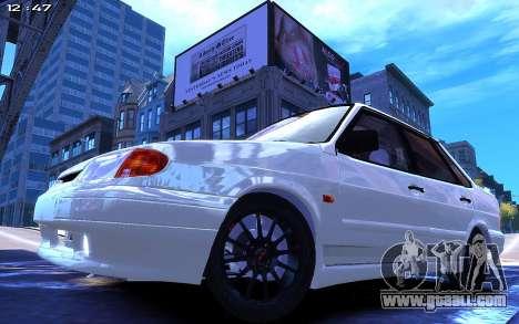 Lada 2115 for GTA 4 back left view