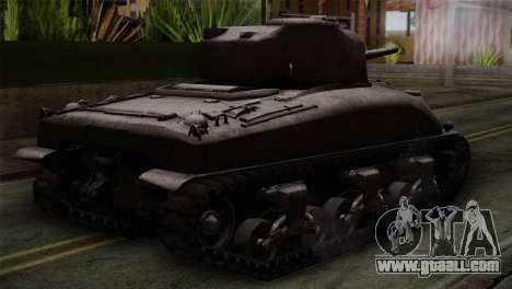 M4 Sherman for GTA San Andreas left view