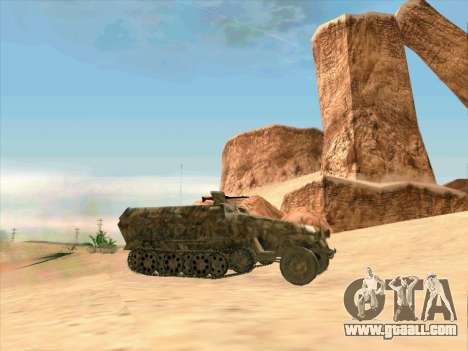 Sd Kfz 251 Desert Camouflage for GTA San Andreas left view