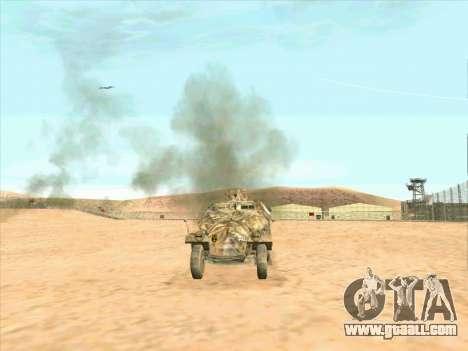 Sd Kfz 251 Desert Camouflage for GTA San Andreas back left view