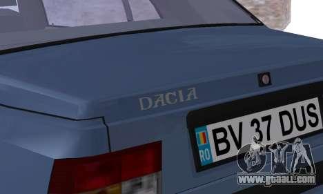 Dacia Super Nova for GTA San Andreas bottom view