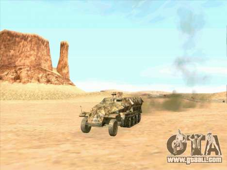 Sd Kfz 251 Desert Camouflage for GTA San Andreas right view
