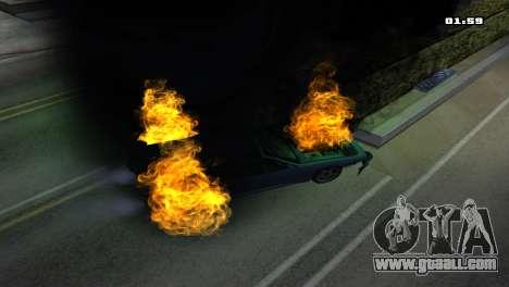 Burning Car for GTA San Andreas sixth screenshot