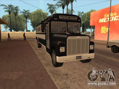 Bus из GTA 3 for GTA San Andreas left view