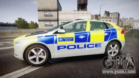 Volvo V40 Metropolitan Police [ELS] for GTA 4 left view