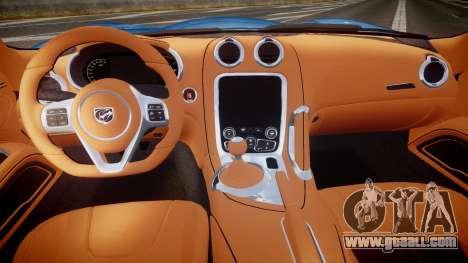 Dodge Viper SRT 2013 rims2 for GTA 4 back view