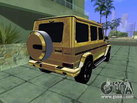 Mercedes-Benz G65 AMG for GTA San Andreas back left view