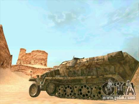 Sd Kfz 251 Desert Camouflage for GTA San Andreas back view