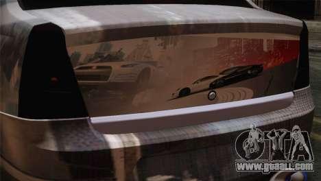 Dacia Logan Most Wanted Edition v3 for GTA San Andreas back view