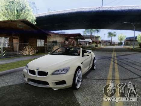BMW M6 Cabriolet 2012 for GTA San Andreas