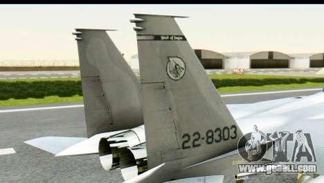 F-15J Mitsubishi Heavy Industries for GTA San Andreas back left view