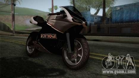GTA 5 Bati Police for GTA San Andreas back view