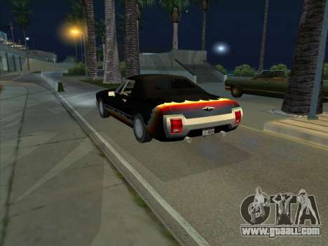 Diablo Stallion из GTA 3 for GTA San Andreas back left view