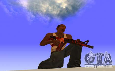 M4A4 Вой CS:GO for GTA San Andreas second screenshot