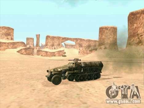Sd Kfz 251 Desert Camouflage for GTA San Andreas