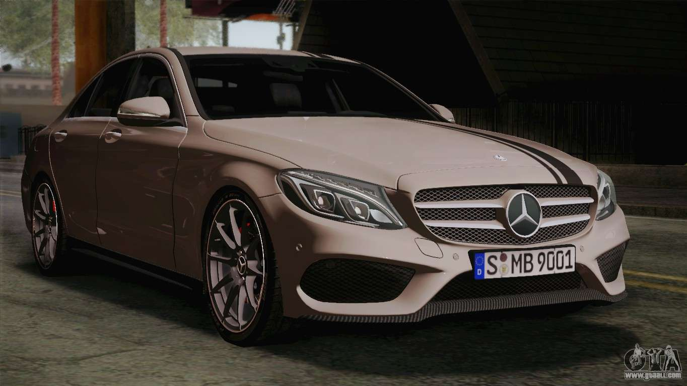 mercedes benz c250 amg edition 2014 eu plate for gta san andreas. Black Bedroom Furniture Sets. Home Design Ideas