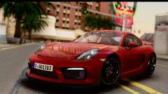 Porsche Cayman GT4 981c 2016 EU Plate for GTA San Andreas