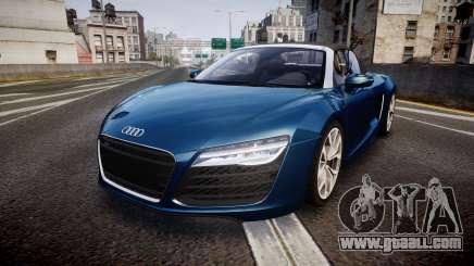 Audi R8 Spyder 2014 [EPM] for GTA 4