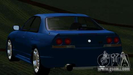 Nissan Skyline R33 4door outech for GTA San Andreas back left view