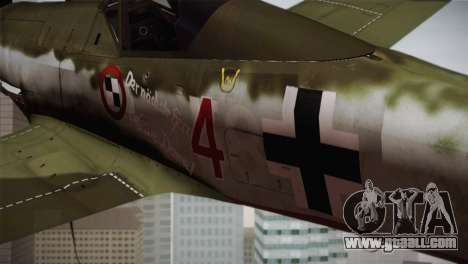 FW 190 D-11 Red 4 JV44 for GTA San Andreas right view