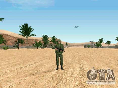 The Russian military is in a new form for GTA San Andreas third screenshot