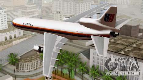 Lookheed L-1011 United Als for GTA San Andreas left view