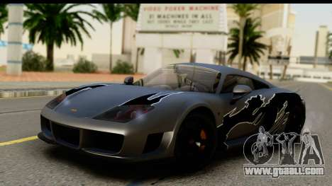 Noble M600 2010 IVF АПП for GTA San Andreas side view