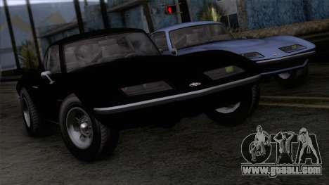 GTA 5 Invetero Coquette Classic HT IVF for GTA San Andreas back view