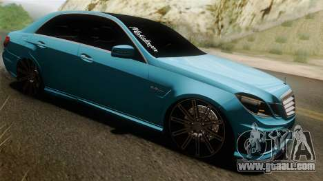 Mercedes-Benz E63 AMG 2010 Vossen wheels for GTA San Andreas inner view