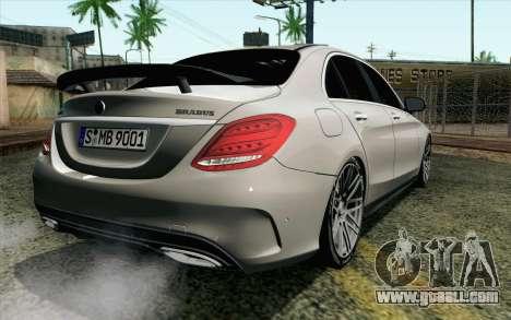 Mercedes-Benz C250 AMG Brabus Biturbo Edition EU for GTA San Andreas left view