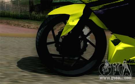 Kawasaki Ninja 250RR Mono Yellow for GTA San Andreas back left view