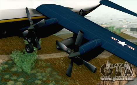 C-130H Hercules Blue Angels for GTA San Andreas right view