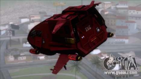 Shuttle v1 (no wheels) for GTA San Andreas left view
