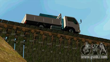 Mitsubishi Fuso Canter 1989 With Crane for GTA San Andreas back left view