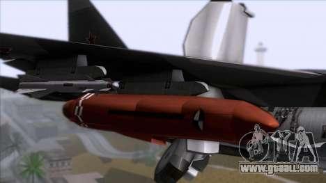 Sukhoi T-50 PAK FA Akula with Trinity for GTA San Andreas back view