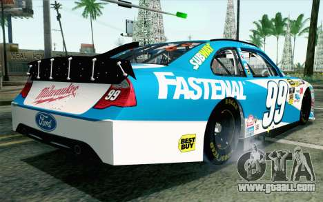 NASCAR Ford Fusion 2012 Plate Track for GTA San Andreas left view