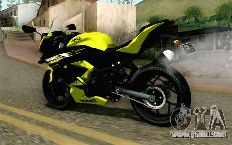 Kawasaki Ninja 250RR Mono Yellow for GTA San Andreas left view
