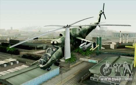 Mi-24D Polish Air Force for GTA San Andreas