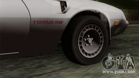 Pontiac Trans AM for GTA San Andreas back left view