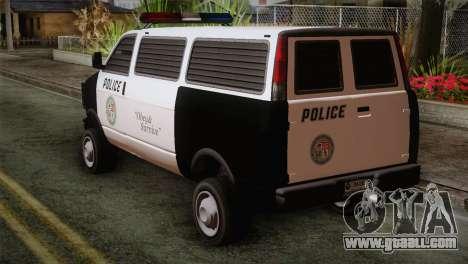 GTA 5 Police Transporter for GTA San Andreas left view