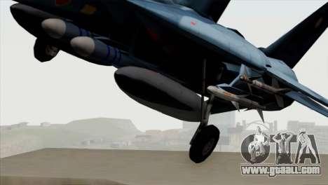 F-14 Japan Air Self Defense Force for GTA San Andreas back view