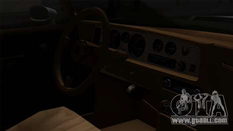 Pontiac Trans AM Interior for GTA San Andreas back view