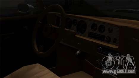 Pontiac Trans AM Interior for GTA San Andreas back view