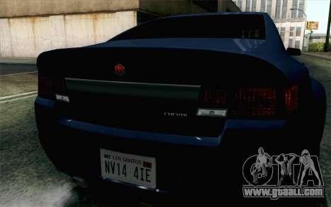 GTA 5 Cheval Fugitive HQLM for GTA San Andreas back view
