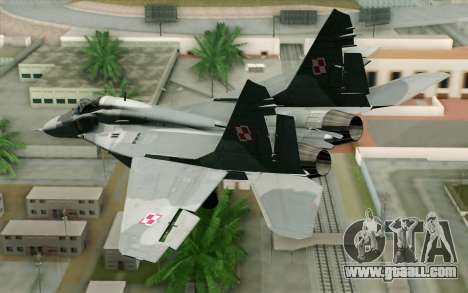 MIG-29 Polish Air Force for GTA San Andreas left view