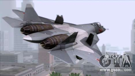 Sukhoi T-50 PAK FA Akula for GTA San Andreas left view