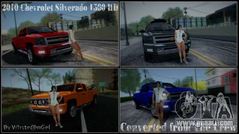 Chevrolet Silverado 1500 HD Stock for GTA San Andreas