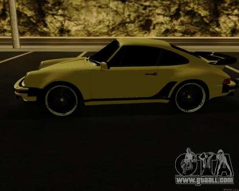 Porsche 911 Turbo for GTA San Andreas back left view